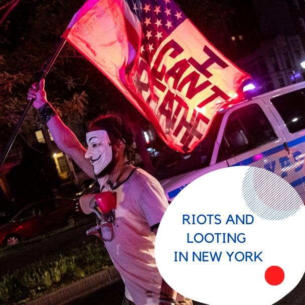 фото беспорядки и грабежи в Нью-Йорке